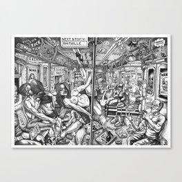 Next Stop Shitville Canvas Print