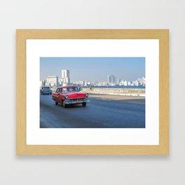Cruising El Malecon Framed Art Print