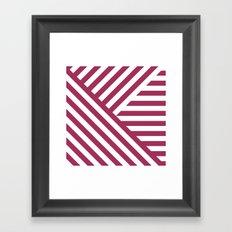 Geometric Pink Framed Art Print