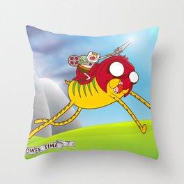 Power Time Throw Pillow