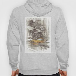 NYC Yellow Cabs Avenue - SKETCH Hoody