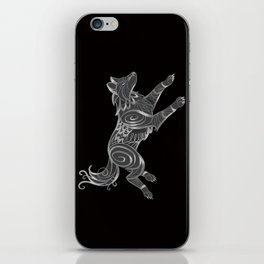 Shimmering Silver Ghost Wolf iPhone Skin