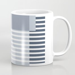 Marfa Abstract Geometric Print in Blue Coffee Mug