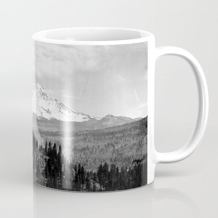 Mount Shasta, and neighboring mountain Shastina, Siskiyou County, ca.1900-1940 Coffee Mug