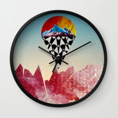 Heads on Sticks Wall Clock