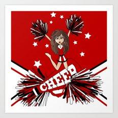 Cheer Cheer Cheerleader Art Print