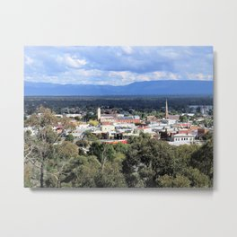Stawell from Lookout Metal Print