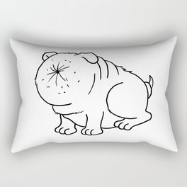 Der Arschlochhund - The Asshole Dog Rectangular Pillow