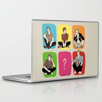 "band Laptop & iPad Skins featuring "" Rainbow band "" by Karu Kara"
