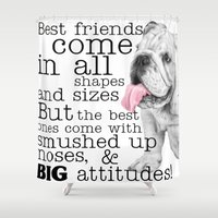 best friend Shower Curtains featuring Best Friend by Mi Bellamore