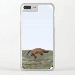 Platypus (Ornithorhynchus anatinus) Clear iPhone Case