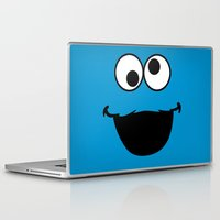 cookie monster Laptop & iPad Skins featuring Cookie Monster by Adel