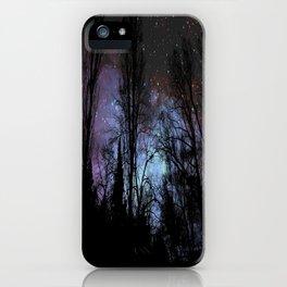 Black Trees Dark Space iPhone Case