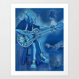Downhome Blues Art Print