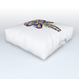 Kachina Butterfly 4 Outdoor Floor Cushion