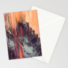 Night and Day: pretty abstract piece in orange, purple, and blues Stationery Cards