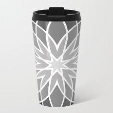 Shades of Grey | Geometric Pattern Metal Travel Mug