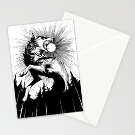 The Wolf that Swallowed the Sun - Lineart Stationery Cards