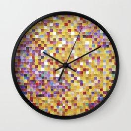 Pixellove - Fluß des Lebens Wall Clock