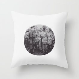 Gory, Gory Throw Pillow