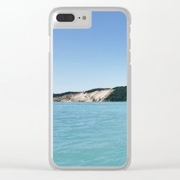 Lake Michigan Sand Dunes Clear iPhone Case