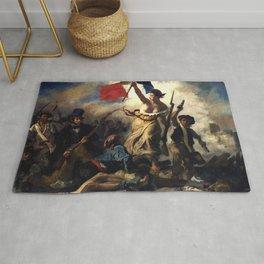 """Eugène Delacroix """"Le 28 Juillet. La Liberté guidant le peuple (Liberty Leading the People)"""" Rug"""