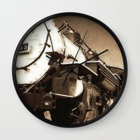 train Wall Clocks featuring Train by SteeleCat