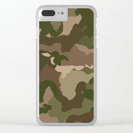 Woodsman Camo Clear iPhone Case