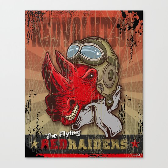 Flying Red Raiders Canvas Print