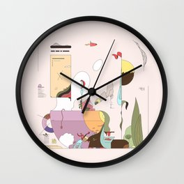 Late Afternoon Tea Wall Clock