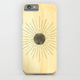 Mustard yellow sun iPhone Case