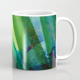 Tropical Ocean Summer Leaves Pattern Green Blue Coffee Mug
