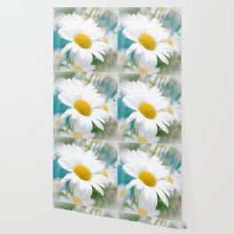 Daisies flowers in painting style 14 Wallpaper