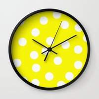 cheese Wall Clocks featuring Cheese by Lilian May