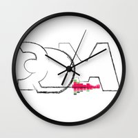 edm Wall Clocks featuring EDM by iRa.