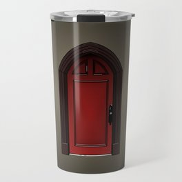 Red door in The Haunting of House Travel Mug