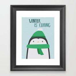 Cold Penguin Framed Art Print