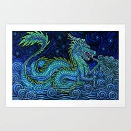 Chinese Azure Dragon Art Print
