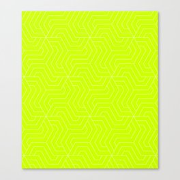 Volt - green - Modern Vector Seamless Pattern Canvas Print