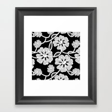 50's Lace Framed Art Print