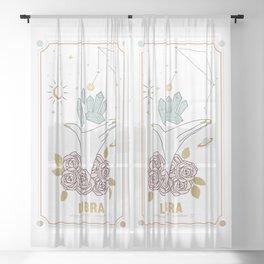 Libra Zodiac Series Sheer Curtain
