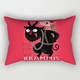 Have fun with Krampus Rectangular Pillow