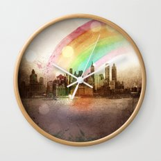 NYC Sky Wall Clock