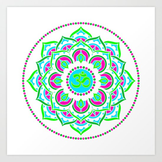 Spring Mandala   Flower Mandhala Art Print