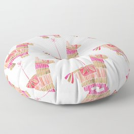 Mexican Donkey Piñata – Pink & Rose Gold Palette Floor Pillow