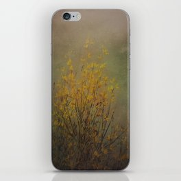 Vintage flowering bloom iPhone Skin
