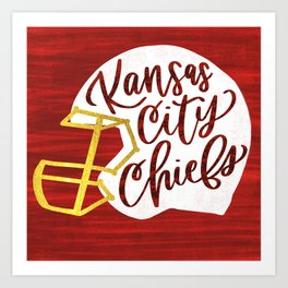 KC Chiefs helmet Art Print