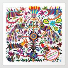 Mexicanitos al grito - Tenangis Art Print
