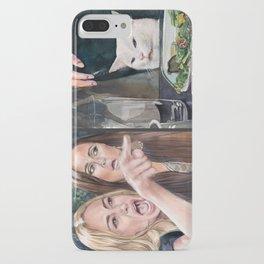 Woman Yelling at Cat Meme-3 iPhone Case