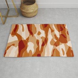 Orange Camouflage  Rug
